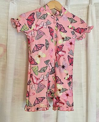 Next Beautiful Butterfly Uv Sunsuit Age 12-18 Mths Lovely!