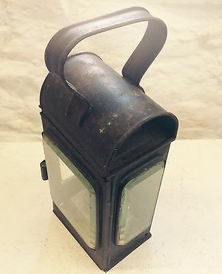 Vintage Collectors Railways Lantern/lamp With Bevelled Glass