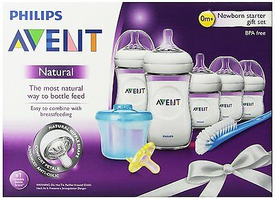 Philips Avent BPA Free Natural Infant Starter Gift Set, New, Free Shipping