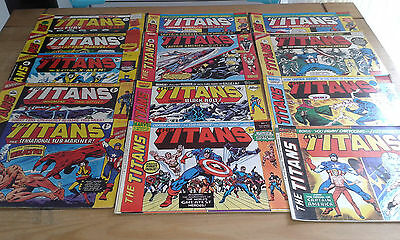 MARVEL UK COMICS THE TITANS 1,2,3, LOT x 13 ISSUES
