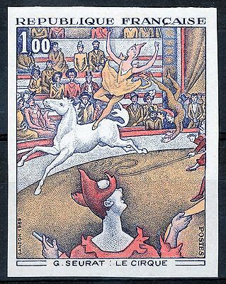 """France 1969 : Y&T #1588A """"Le Cirque"""" imperf ; MNH"""