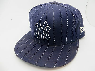 59Fifty New Era Cap Size 7-5/8 New York Yankees Purple With Pin Str Cap Hat Nice