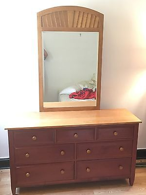 "Ethan Allen ""Country Colors"" Dresser with Detachable Mirror"