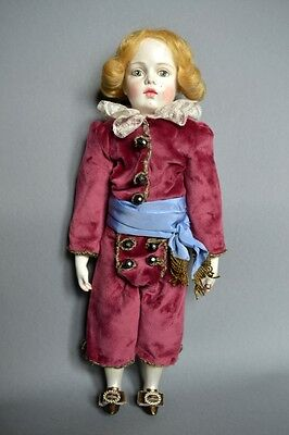 Rococo style BOY doll made by D.Vistavna using Bru Jne mold, blond hair.