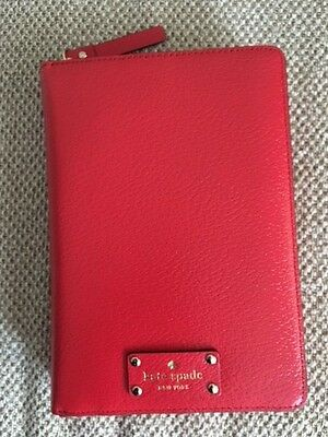 NWT 2017 Kate Spade planner zip around personal organizer RED XO