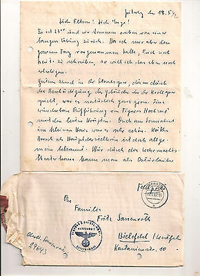 ORIGINAL Militaria WWII GERMAN card   stamp 1942
