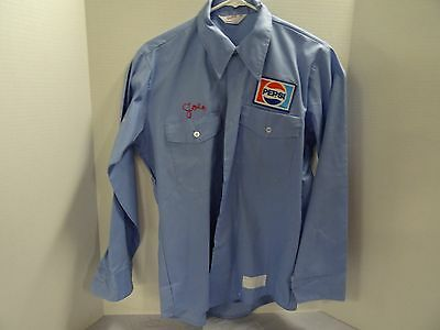 PEPSI Blue uniform work shirt 15-151/2 neck 32 length