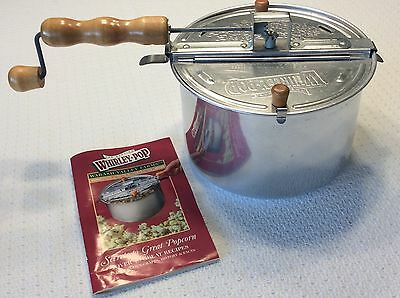 Wabash Valley Farms Whirley-Pop Stovetop Popcorn Popper W/Recipe Booklet