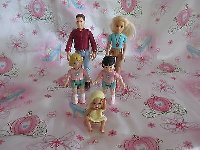 Fisher Price Loving Family Dollhouse People Figure Lot Mom Dad Baby Girls...NICE