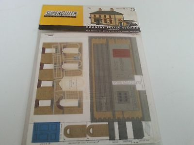 Superquick Series B No 25 Country Police Station - Low Relief Cardboard Kit Ho