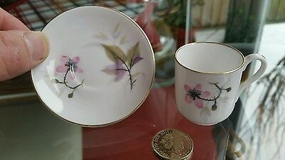 "SHELLEY MINIATURE Cup and Saucer "" Bramble """