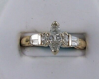 14Kt Yellow gold  1/2 carat Marquise Engagement ring