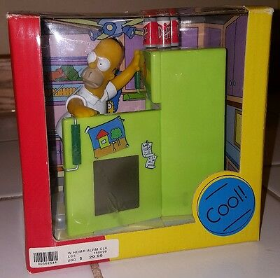 "NIB The Simpsons Homer Simpson Digital Talking Alarm Clock Wesco ""in the fridge"""
