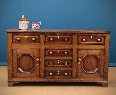 Antique 19th.c. Welsh Dresser Base c.1830.