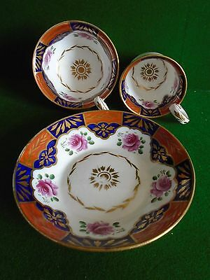 Early 19th Century trio cups and saucer nantgarw or spode  A/F ?