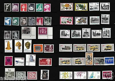 Federal Republic Germany stamps mix lot, 2 full sheet. All nice MNH 8
