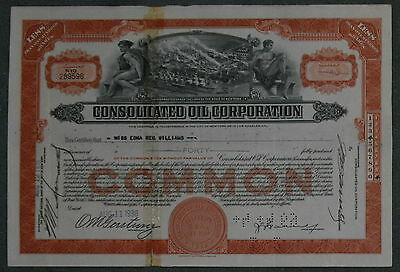 Consolidated Oil Corporation 1938 40 Shares .