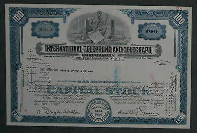 International Telephone and Telegraph Corporation 1960 100 Shares .