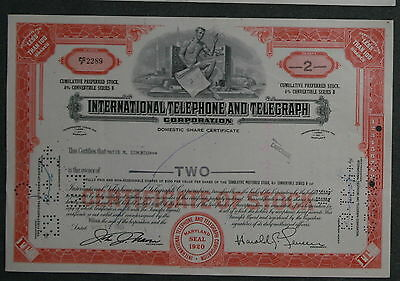 International Telephone and Telegraph Corporation 1961 2 Shares .