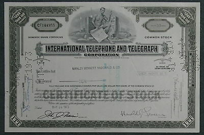 International Telephone and Telegraph Corporation 1973 10 Shares .