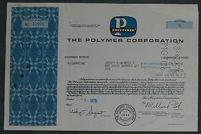 The Polymer Corporation 1971 10 Shares .