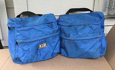 Vtg 70s 80s Bicycle Touring Cycling Commuting REI Front Rear Pannier Rack Bags