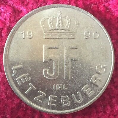 Luxemburg Luxembourg 5 Francs 1990