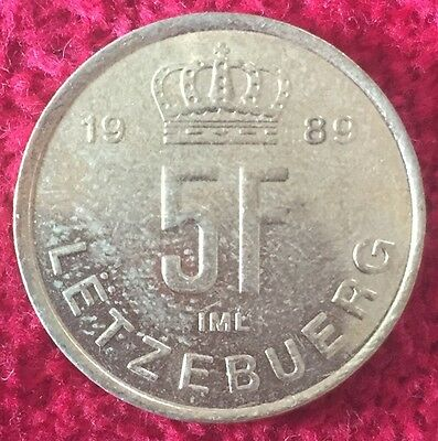 Luxemburg Luxembourg 5 Francs 1989
