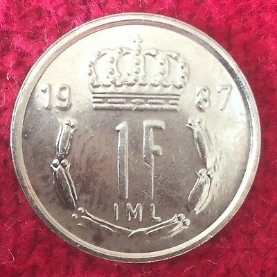 Luxemburg Luxembourg 1 Francs 1987