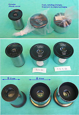 Zeiss : 2 Oculaires Neufs + 1 Occasion - 2 Eyepieces News + 1 Opportunity