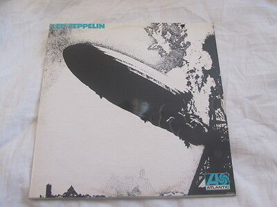 Led Zeppelin S/t Lp Uk 1St Turquoise Uncorrected Superhype Credit Ex+/ex