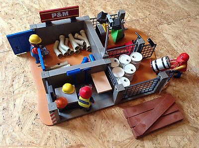 Playmobil - SuperSet Bauhof oder Materiallager / Depot - 4135