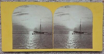 Stereoview of Sunset from Ryde Pier