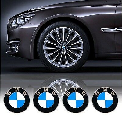 4Pcs 65mm Diameter Wheel Cap Centre Sticker Self Adhesive Logo Emblem For BMW