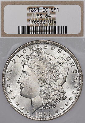 1891-CC $1 NGC MS64 Morgan Silver Dollar - Spitting Eagle - #NumismaticallyYours