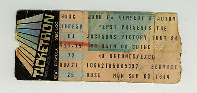 Michael Jackson Victory Tour Ticket Stub Sept. 1984
