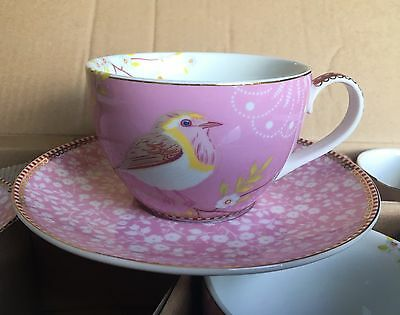 Pip Studio - Early Bird Pink Cup and Saucer Set of 6
