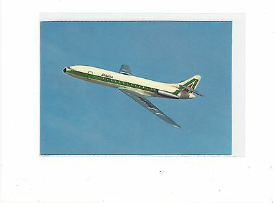 Alitalia airlines issued Caravelle cont/l  postcard
