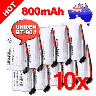 NEW Cordless Phone Battery 10x For Uniden BT-904 BT-904S BT802 2.4V 800MAH Ni-MH