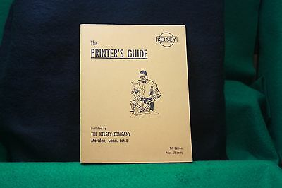 The Printer's Guide The Kelsey Co Reprint 9Th Ed