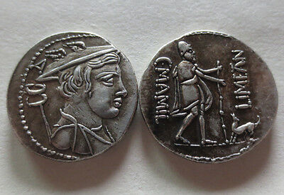 Ancient Greek Roman Museum Quality Old re-issue coin ULYSSES and ARGOS 82 BC