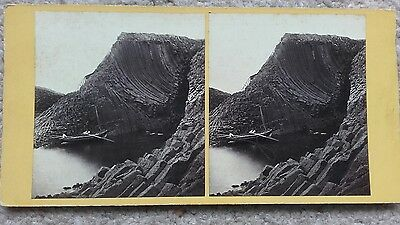 Stereoview of Staffa The Mouth of the Clamshell Cave