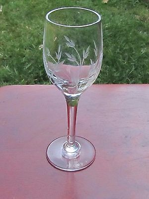 Stuart Crystal Tall Glass Possibly Rhapsody Pattern