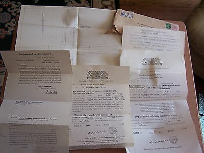 Vintage 1950 Southend Essex Court Summons Paperwork Police Report Thorpe Bay