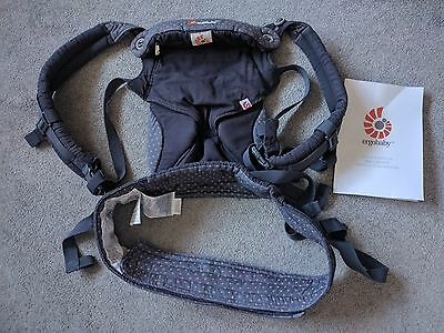 Ergobaby Four Position 360 baby carrier/sling, Dusty Blue, padded shoulder, hood