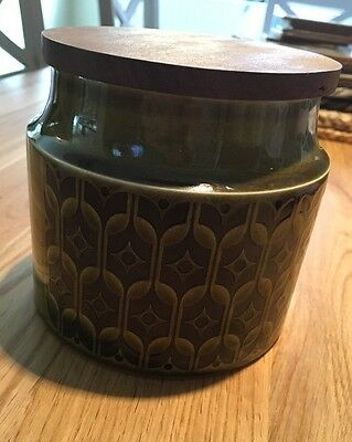 Hornsea Pottery Caddy Jar Heirloom Green