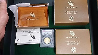 2014-W $10 First Spouse Gold Eleanor Roosevelt  PCGS PR70DCAM First Strike  BOX