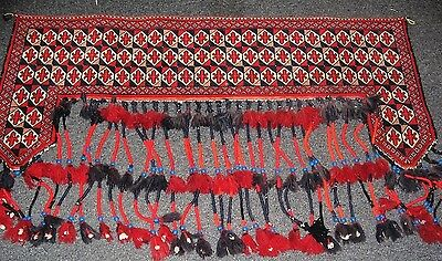 Vintage  Turkoman   Camel Trapping /  Rug .. …