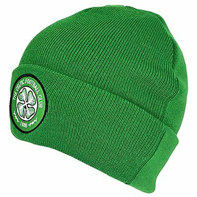 Celtic Cuff Knitted Hat - Green