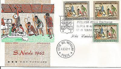 Vatican First  day Cover  1962   Christmas